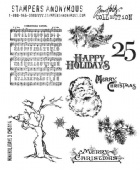 Stampers Anonymous/Tim Holtz - Cling Mount Stamp Set - Mini Holidays 3 - CMS114